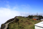 Beautiful foggy view from the top of the Emeishan