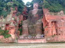 Great Grand Buddha in Leshan, A view from Waters..