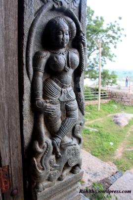 Beautifully carved goddess on the wall of Mandapa