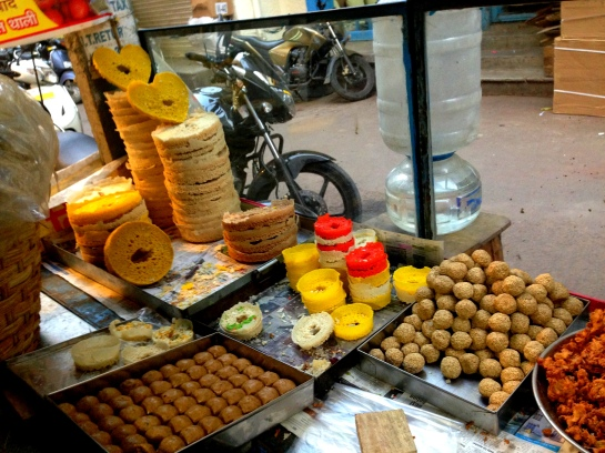 Rajasthani foods in a small food court