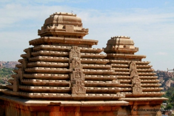 Pyramid like roofs resemble that of the Jain temples