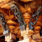 Dancer and women archer madanikas and Elephant lion sculptures..
