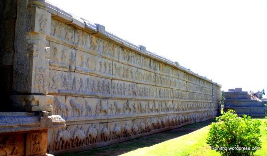 Hazara Rama temple outer wall..