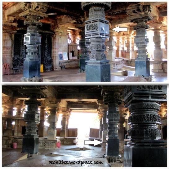 Ornate Pillars of Ramappa temple, Warangal
