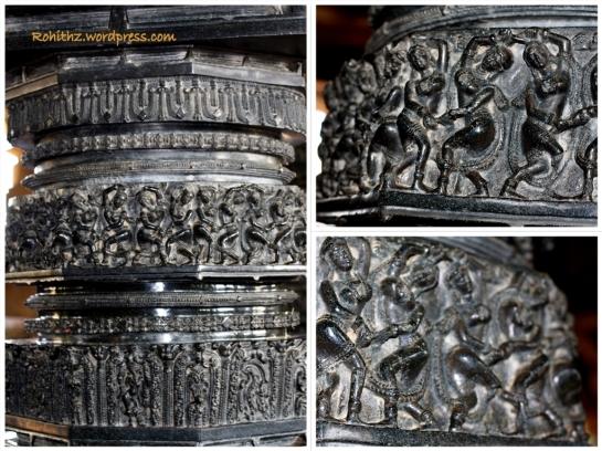 Pillars of the Ramappa temple, Warangal
