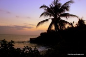 Sunset at tanah lot..