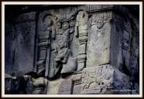 The temple wall along the gallery were adorned with the statues and reliefs of devatas