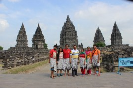 My family infront of Prambanan temple complex on 27/06/2014