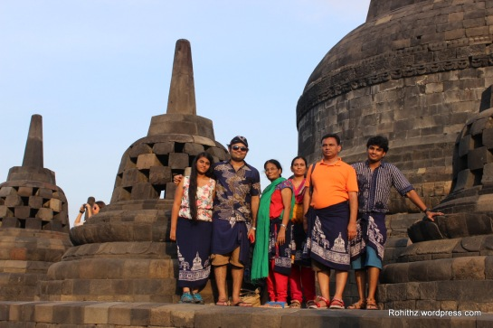 That's me with my family at Borobodur..
