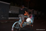 This 3 wheeled pedal powered bicycle cart locally called as Becak