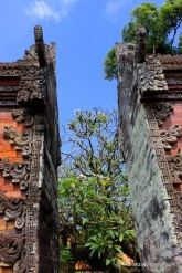 A smaller version of Candi Bentar split gateway