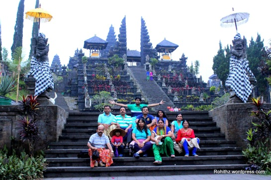 Complete family picture at the most sacred mother temple..