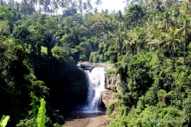 Tegenung water falls from a distance