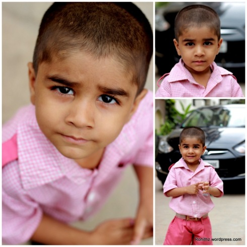 So many expressions one amazing face.. Looking innocent isn't it? trust me he will punch you if you