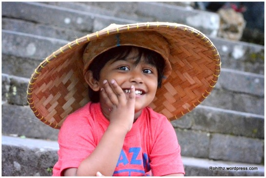 A smile from a child is a packed sunshine and rainbows.. That's Vedh