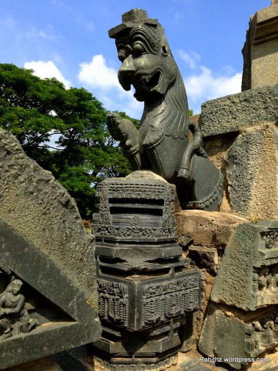 Even till today this Lion shaped pillar didn't loose its grandeur.