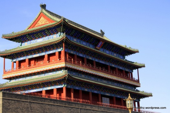 Zhengyangmen gate was first built in 1419 during the Ming Dynasty and once consisted of the gatehouse proper and an archery tower, which were connected by side walls and together with side gates, formed a large barbican. The gate guarded the direct entry into the imperial city. The city's first railway station, known as the Qianmen Station, was built just outside the gate. During the Boxer Rebellion of 1900, the gate sustained considerable damage when the Eight-Nation Alliance invaded the city. The gate complex was extensively reconstructed in 1914. The Barbican side gates were torn down in 1915.