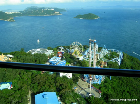 View of the rides at Thrill mountain..