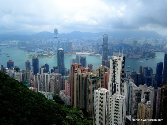 A view from the top of Victoria peak