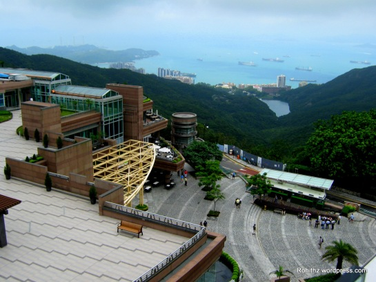 A view from the peak tower.. And the backdrop is the one of the finest Harbors on Earth..