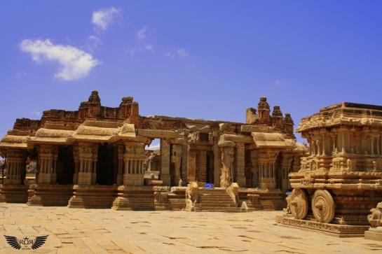 You can see Stone chariot(which is dedicated to Garuda), The kalyanamantapa and Utsavamandapa.