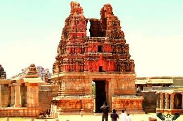 This is Gopura of Vittala Temple. No other temple in Hampi can compare with this temple in terms of florid magnificence