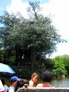 River cruise to Tarzan's Tree House.