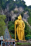 'Lord Murugan Statue' is the tallest statue of Hindu deity in Malaysia and second tallest statue of Hindu deity in world, only second place to the Kailashnath Mahadev Statue in Nepal. It also the tallest statue in Malaysia at 42.7 metres (140 ft) in height.