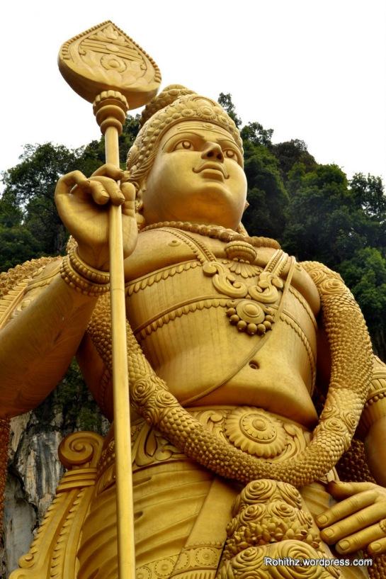 Closeup view of Lord Murugan, Kuala Lumpur, Malaysia.