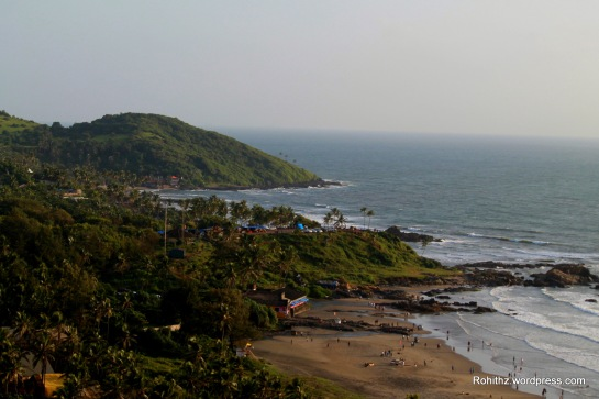 View from Chapora fort, Goa