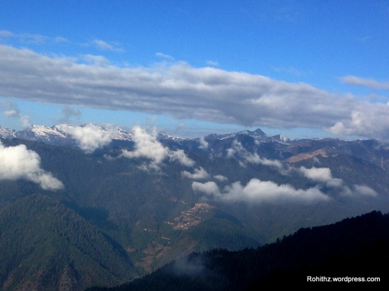 From this point, Eastern Himalayas are seen.