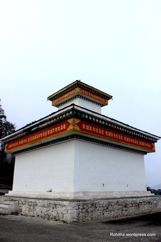 The pass is also popular spiritual destination because an important temple is located on the crest of Dochula pass.