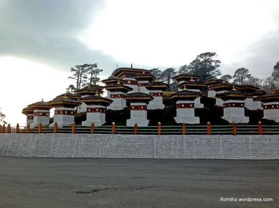 This is also Known as the Druk Wangyal Chortens.
