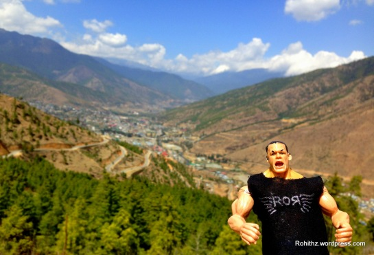 With Thimphu City as a backdrop..