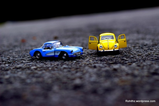 Yellowie & Vader toy cars love story (2)