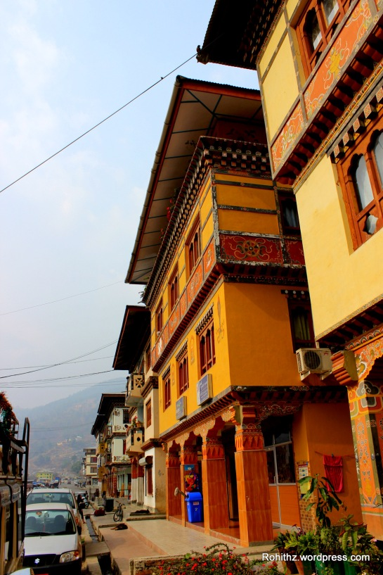 Paro is a place of peace and serenity with colorful buildings..
