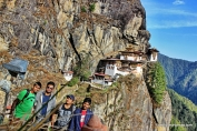 Taktsang lhakhang a.k.a Tiger's monastery as a backdrop