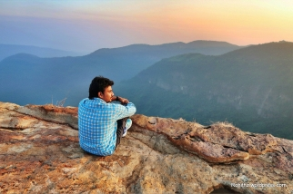 I love to sit on a mountain top and gaze. I don't think of anything but the people I care about and the view..