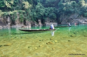 Boating on Dawki clear waters is a unique experience. and is a must do things in Meghalaya