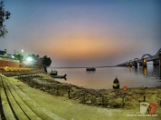 dusk view of Godavari river from Pushkar ghat