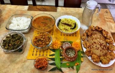Ugadi Specials: Bhakshalu, Chinthapandu pulihora, vadalu, Aloo curry, Sambar, Mango pickle, Ugadhi pachadi, Vankaya koora etc.,