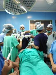 while performing the procedure..