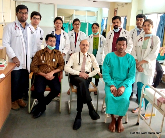 Patient who underwent the procedure.. With our Professors and Post graduates..