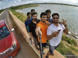 Mandatory groupfie at Jurala dam